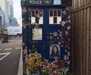doctor who, tardis, and clara oswald image
