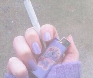 purple, cigarette, and grunge image