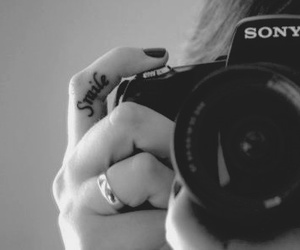 b&w, black nails, and photography image