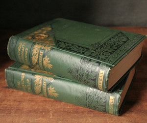 old books, etsy, and green and gold image