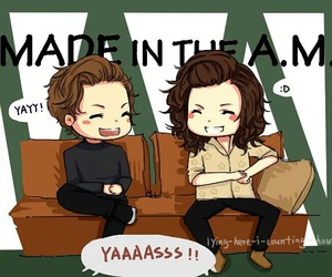 fanart, louis tomlinson, and Harry Styles image