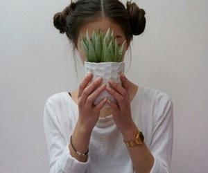 girls, grunge, and plants image