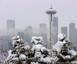 seattle, snow, and city image