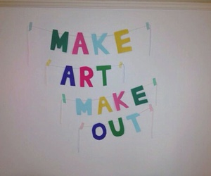 art, make out, and quote image