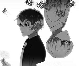 beautiful, monochrome, and tokyo ghoul image