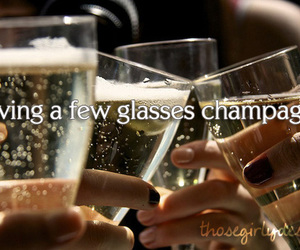 champagne, glass, and those girly desires image