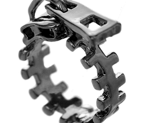 statement ring, zigzag ring, and zipper rings image