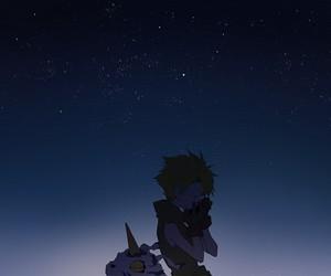 gabumon, anime, and digimon image