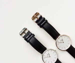 watch, black, and daniel wellington image