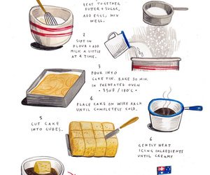 art print, baking, and foods image