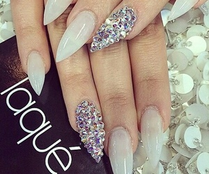 nails, fashion, and diamond image