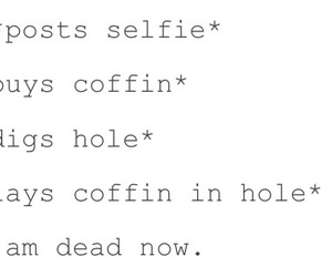coffin, dead, and funny image
