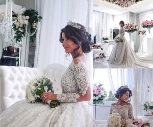 wedding, dress, and beautiful image