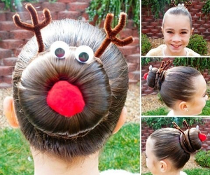 hair, christmas, and hairstyle image
