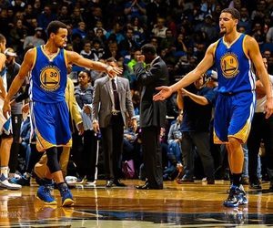 klay thompson, steph curry, and splash brothers image