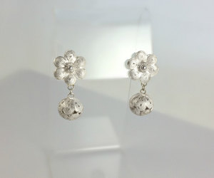 etsy, flower earrings, and jewelry gift image
