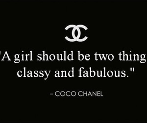 chanel, classy, and quote image