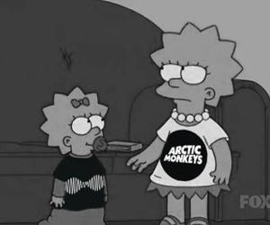 arctic monkeys, simpsons, and grunge image