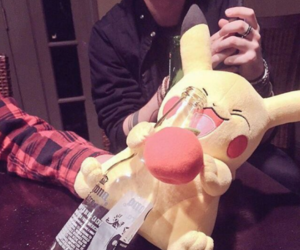 5sos, michael clifford, and pikachu image