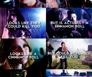 cinnamon roll, jace wayland, and clary fray image
