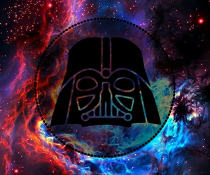 darth vader, galaxy, and infinito image