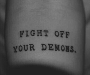 demon, tattoo, and fight image