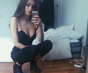 girl, black, and style image