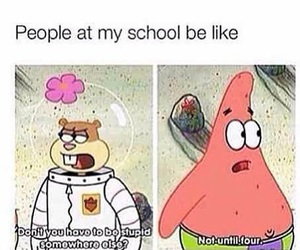 funny, school, and patrick image