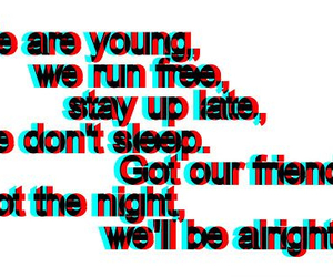 young, text, and friends image