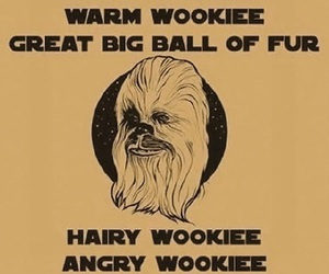 star wars, funny, and wookie image