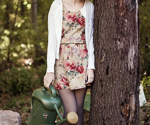 fashion, floral, and garden image