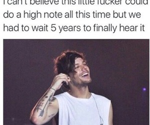 louis tomlinson, one direction, and high note image