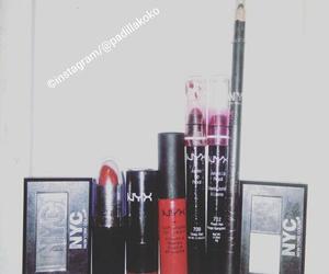 cosmetics, eye shadow, and lipstick image