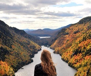 autumn, girl, and nature image
