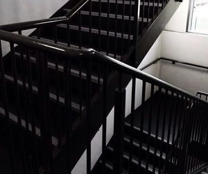 black, grunge, and stairs image