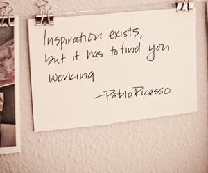 inspiration, quote, and picasso image