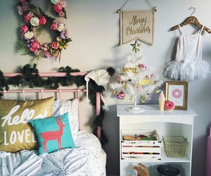 merry christmas, girly bedrooms, and white christmas tree image