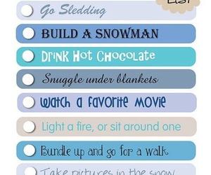 winter, christmas, and bucket list image