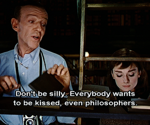 audrey hepburn, kiss, and quotes image