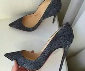 pretty, shoes, and blackshoes image