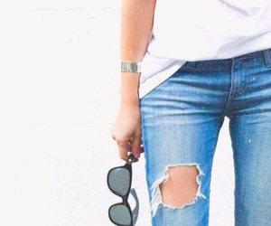 blue, girl, and jeans image