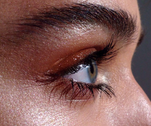 eye, eyebrow, and eyes image