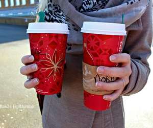 tumblr, christmas, and starbucks image