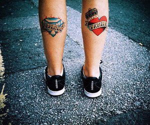 tattoo, family, and friends image