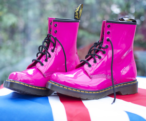 boots, doc martens, and flag image
