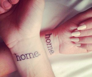 tattoo, couple, and home image