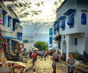 tunisia, tourism, and sidi bou said image