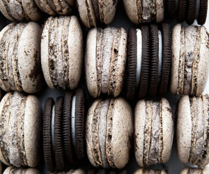 food, oreo, and macaroons image