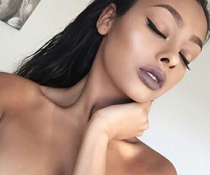 beautiful, eyebrows, and girl image