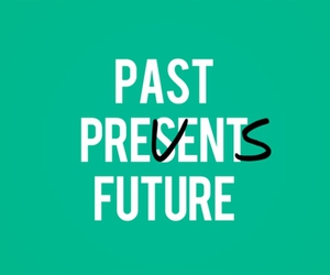 future, typography, and past image